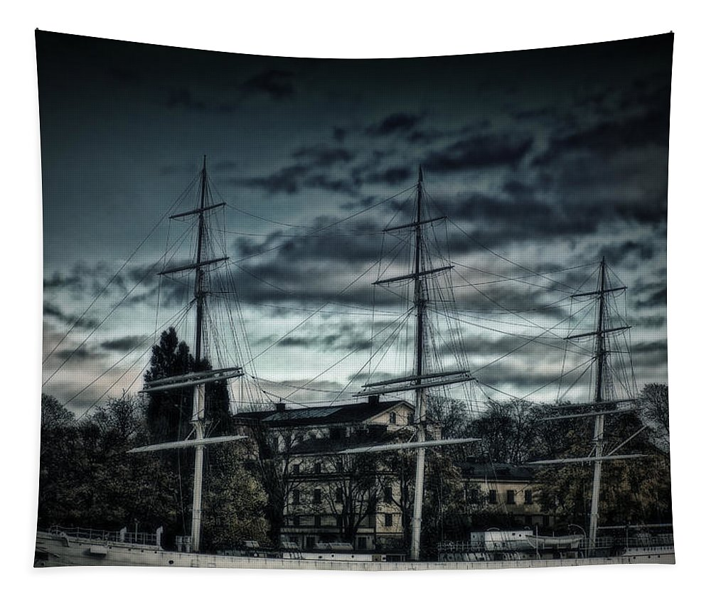 Sailboat Tapestry featuring the photograph Af Champman At Afternoon by Ramon Martinez