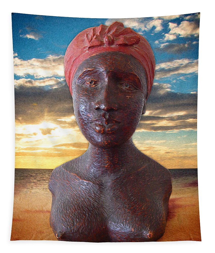 Woman Tapestry featuring the photograph African Woman by Phil Perkins