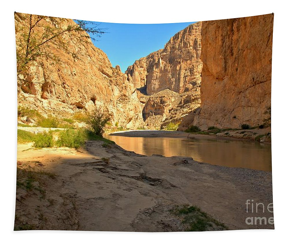 Boquillas Canyon Tapestry featuring the photograph Afternoon At Boquillas Canyon by Adam Jewell