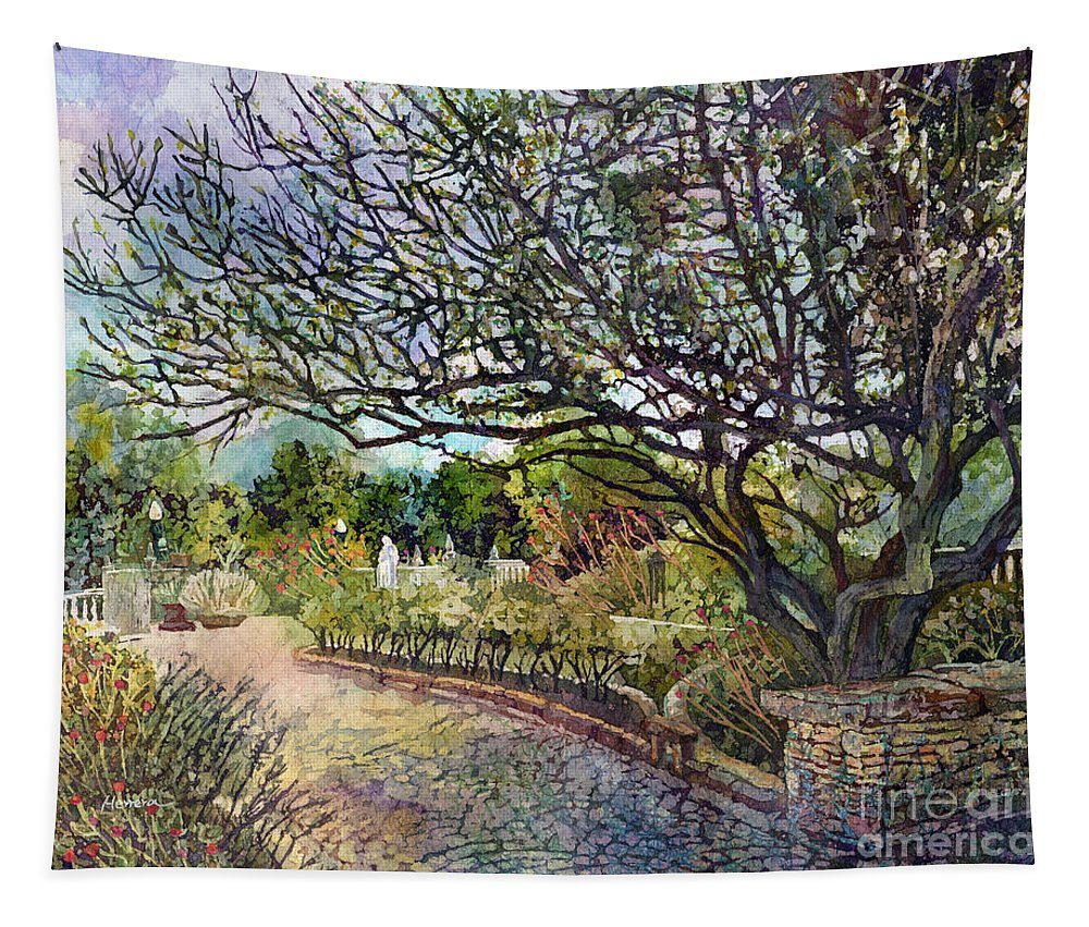 Tree Tapestry featuring the painting Afternoon Stroll by Hailey E Herrera
