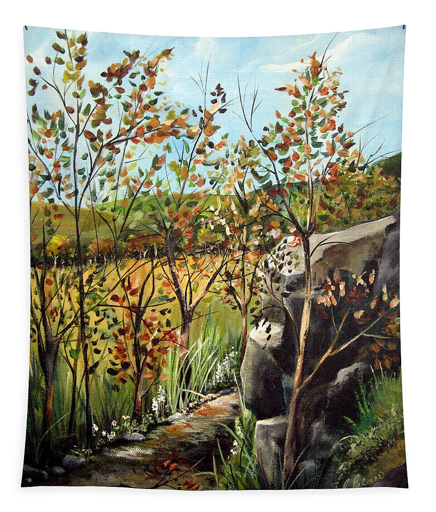 Tapestry featuring the painting Afternoon Stroll by Ruth Palmer