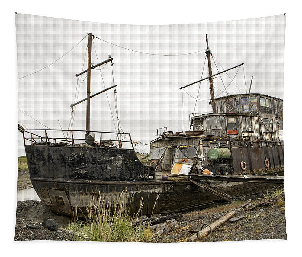 Aground Tapestry featuring the photograph Aground by Phyllis Taylor