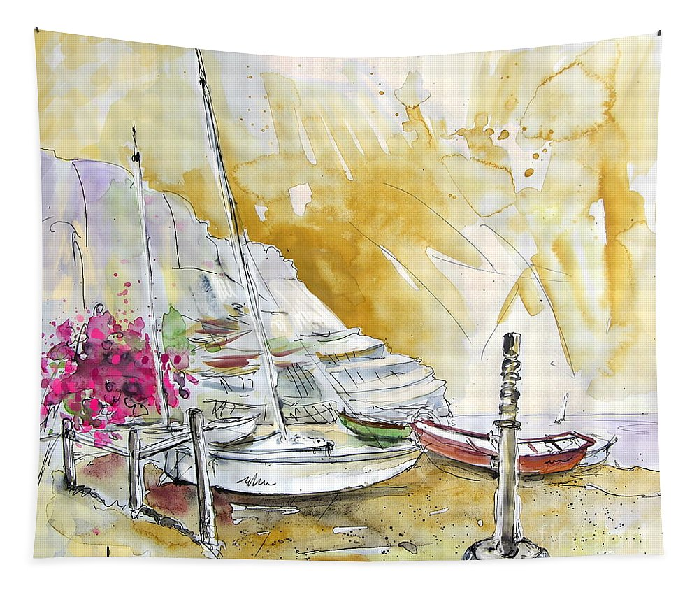 Agua Amarga Tapestry featuring the painting Agua Amarga 13 by Miki De Goodaboom