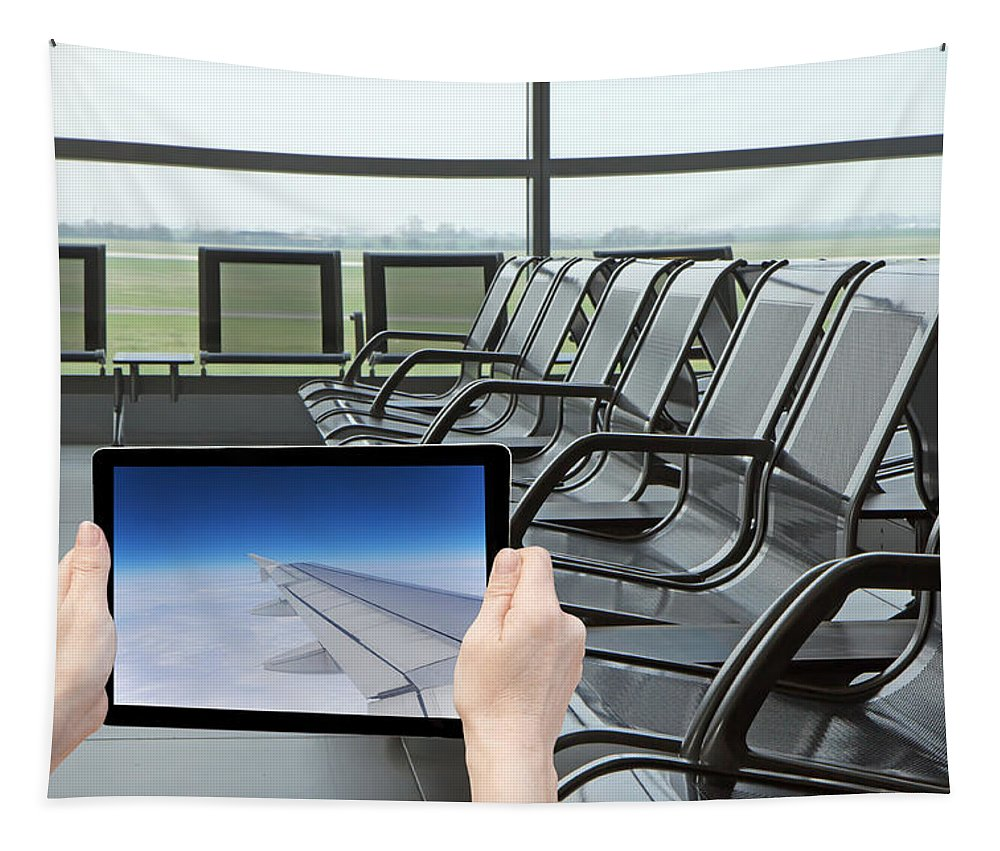 Airport Tapestry featuring the photograph Air Travel Concept by Jaroslav Frank
