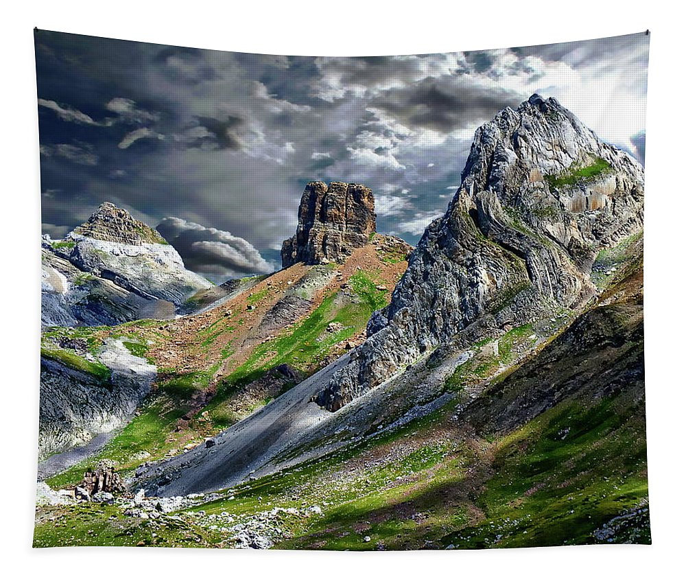 Sky Tapestry featuring the photograph Aisa Valley Scenic by Anthony Dezenzio