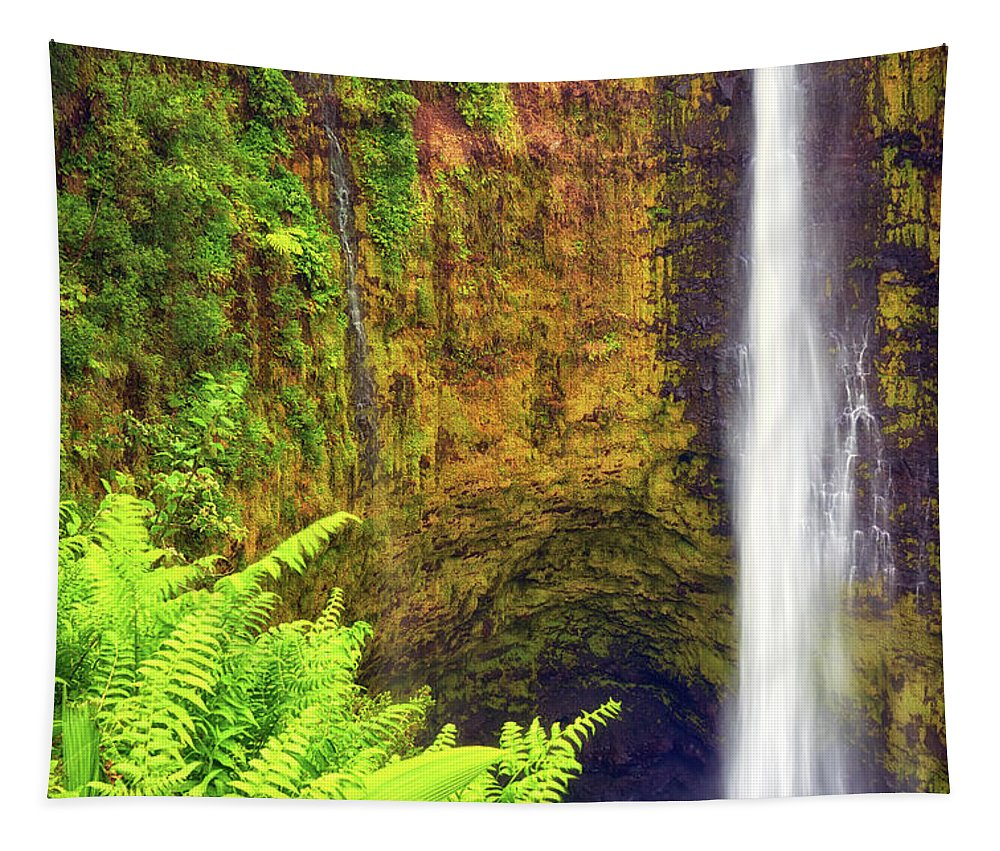 Waterfall Tapestry featuring the photograph Akaka Falls by Christopher Johnson
