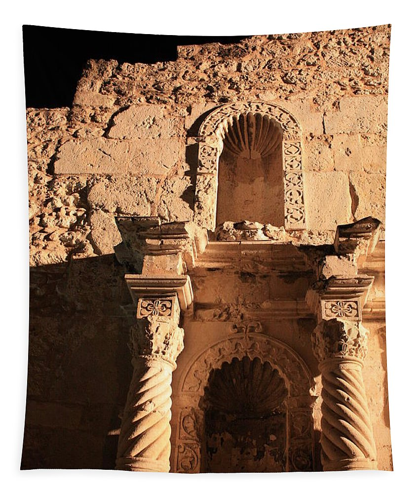 Alamo Tapestry featuring the photograph Alamo Shadows by Carol Groenen