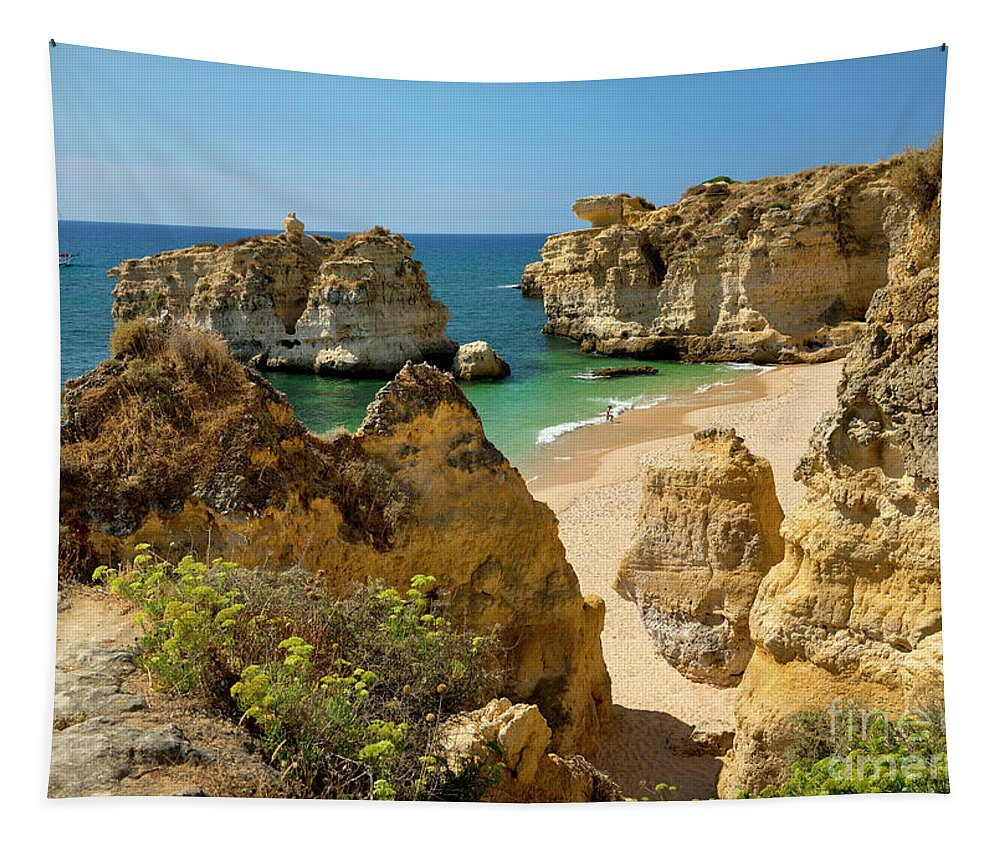 Portugal Tapestry featuring the photograph Albufeira Cove by Mikehoward Photography