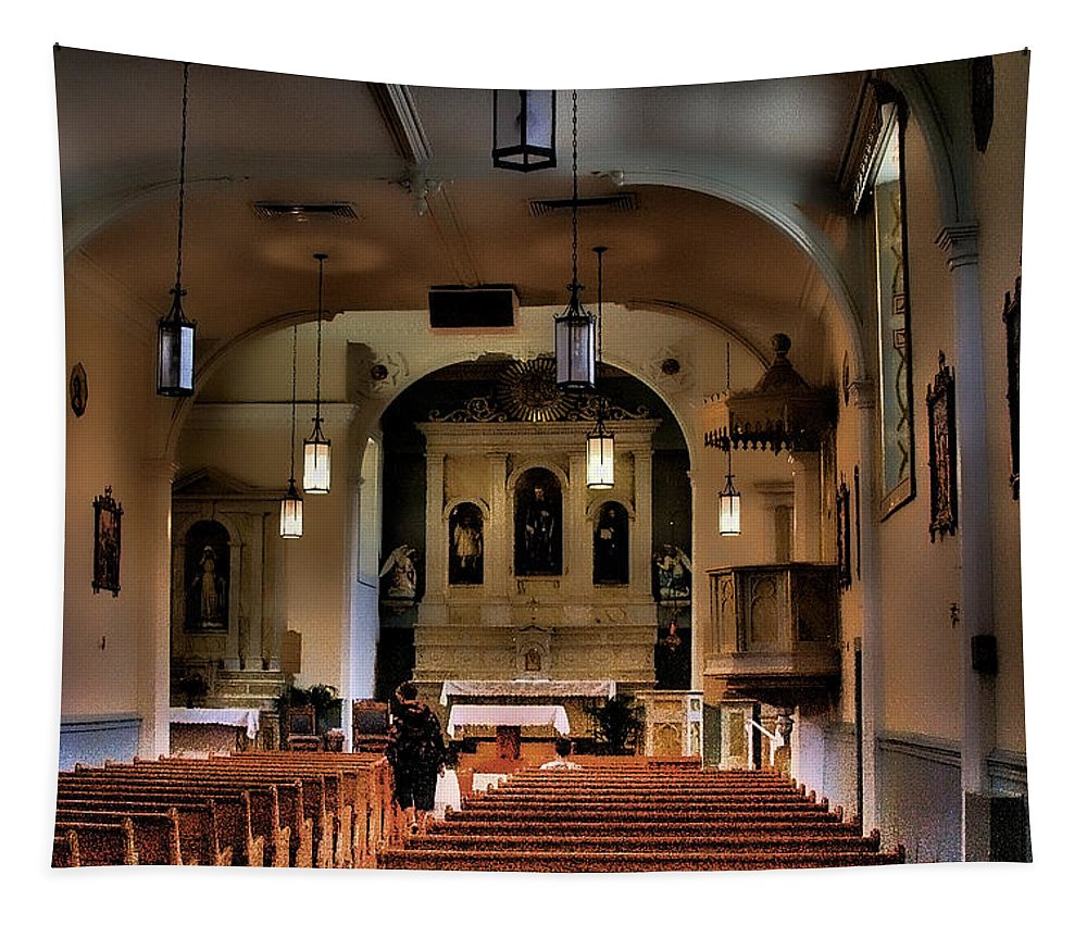 Church Tapestry featuring the photograph Albuquerque Church by David Patterson