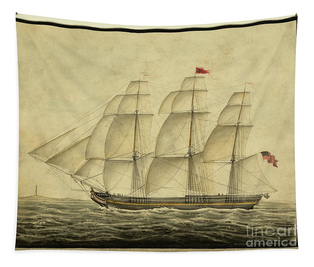 Ship Tapestry featuring the photograph Alcono Sailing Vessel by Dale Powell