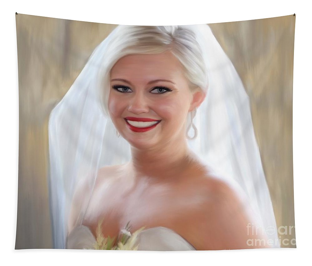 Bride Tapestry featuring the painting Alexis Champ by Jack Bunds