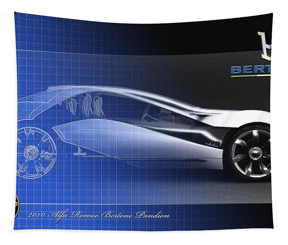 Wheels Of Fortune By Serge Averbukh Tapestry featuring the photograph Alfa Romeo Bertone Pandion Concept by Serge Averbukh