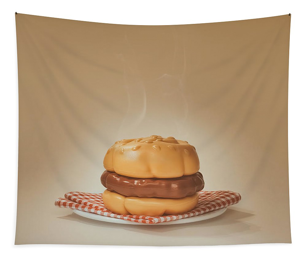Scott Norris Photography Tapestry featuring the photograph All-american Burger by Scott Norris