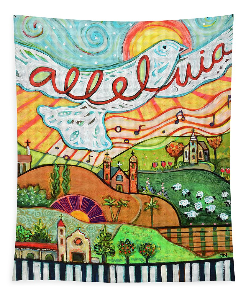 Jen Norton Tapestry featuring the painting Alleluia by Jen Norton