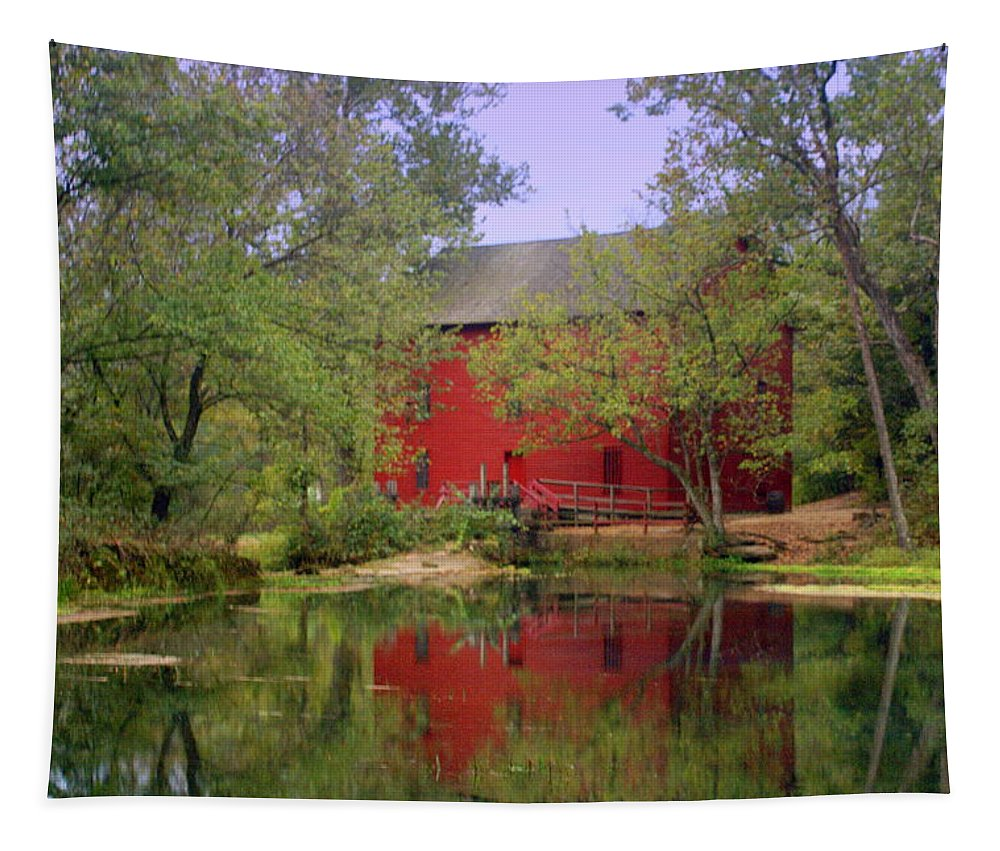 Alley Spring Tapestry featuring the photograph Allsy Sprng Mill 2 by Marty Koch