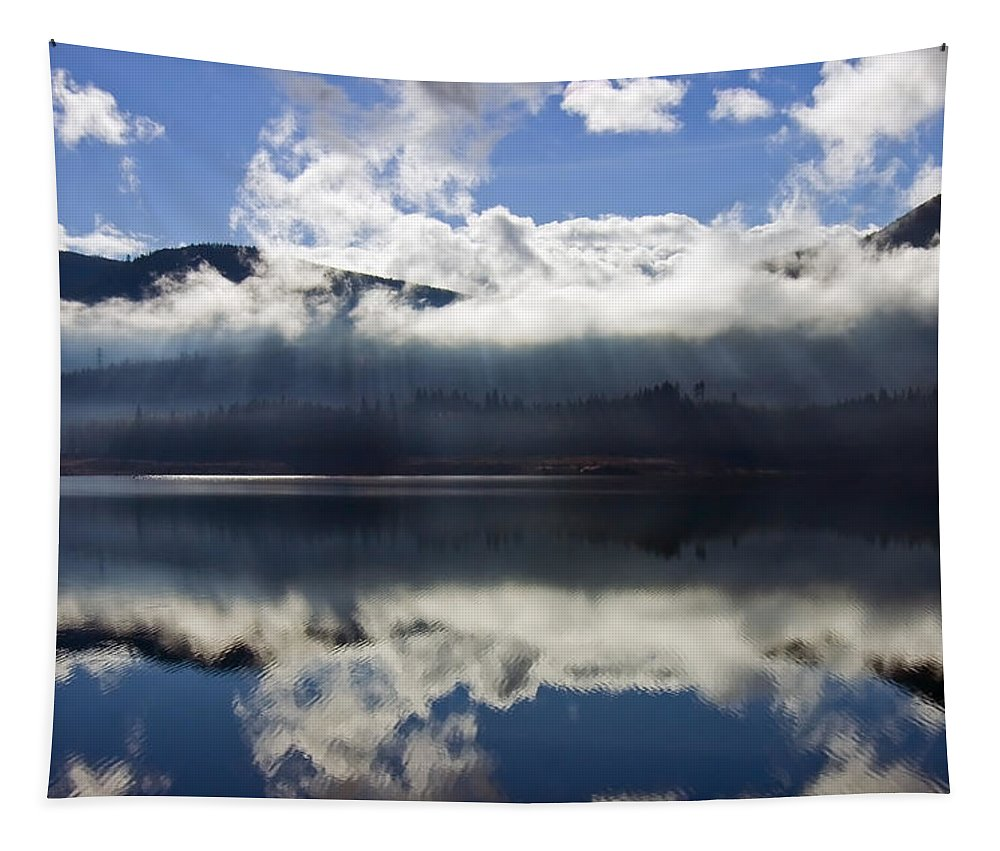 Heavenly Light Tapestry featuring the photograph Almost Heaven by Mike Dawson
