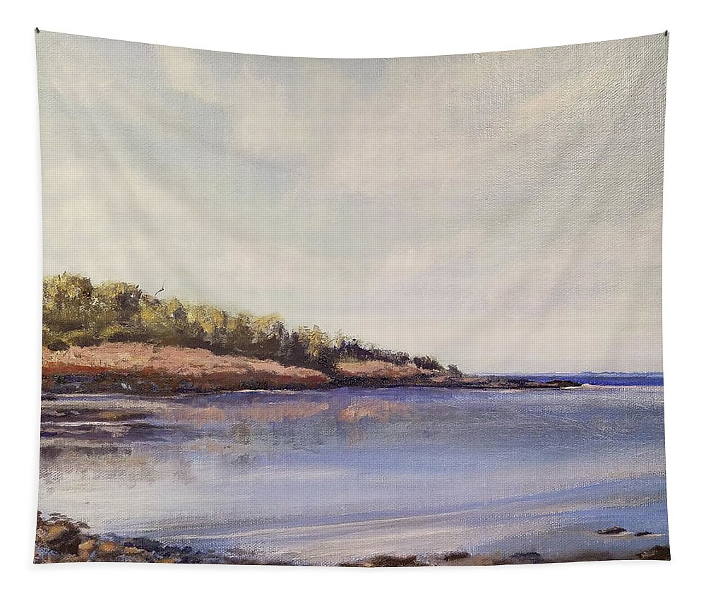 Ocean Tapestry featuring the painting Almost Still by Susan Hanna