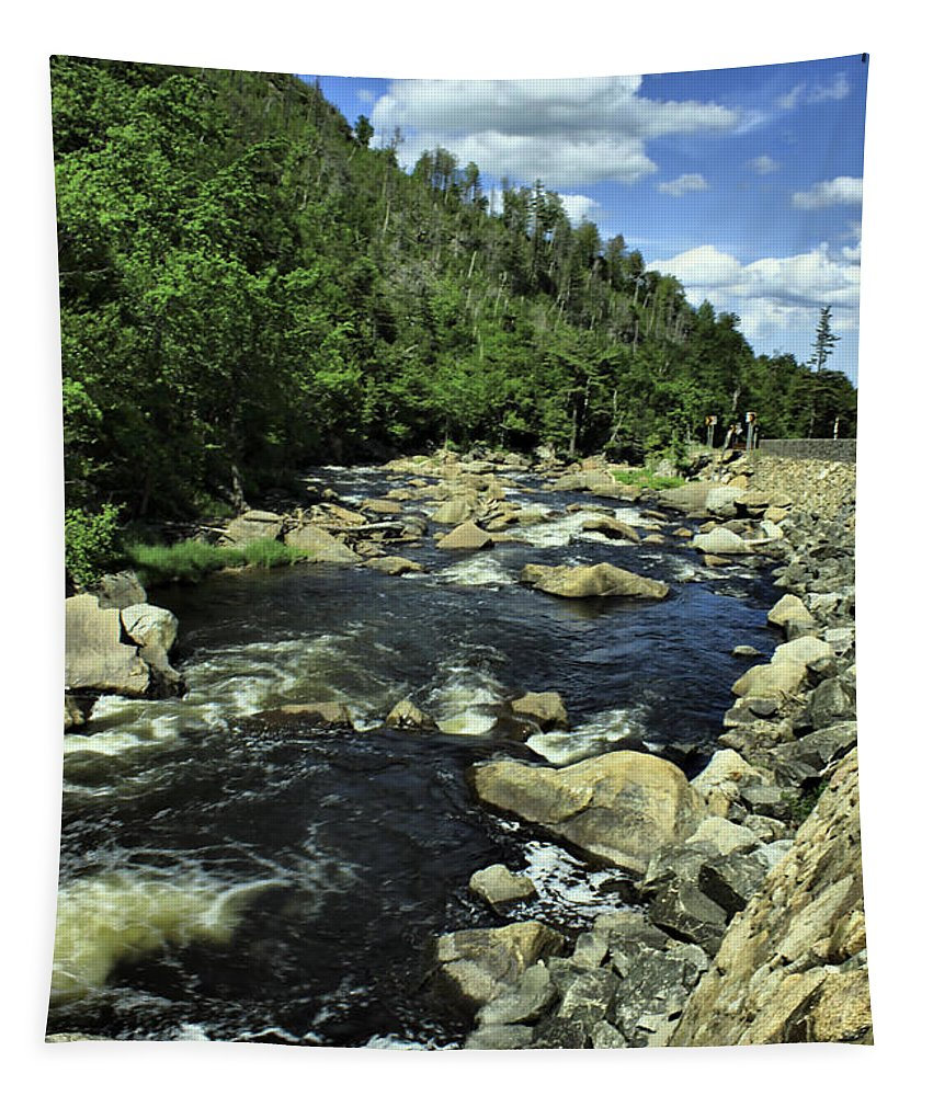 River Tapestry featuring the photograph Along Rt3 New York by Deborah Benoit
