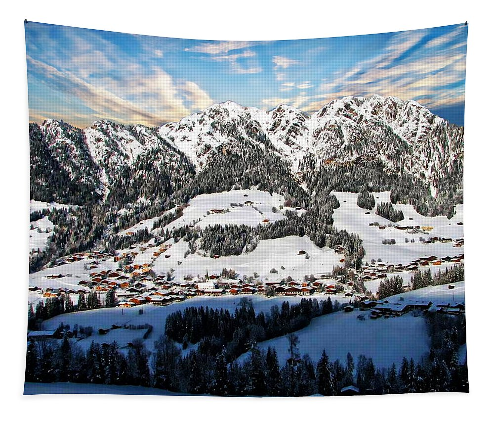 Winter Tapestry featuring the photograph Alpbach Winter Landscape by Anthony Dezenzio