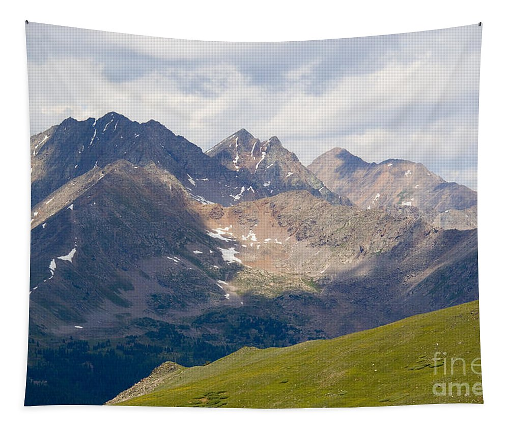 Cottonwood Pass Tapestry featuring the photograph Alpine Tundra And The Colorado Continental Divide by Steve Krull