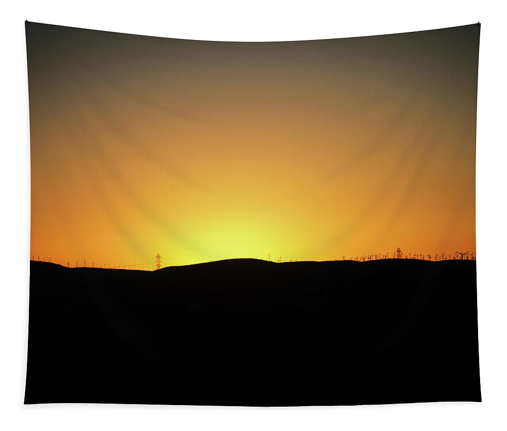 Sunset Tapestry featuring the digital art Altamont Sunset by Terry Davis