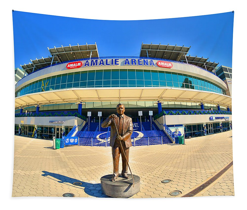 Amalie Arena Tapestry featuring the photograph Amalie Arena by Lisa Wooten