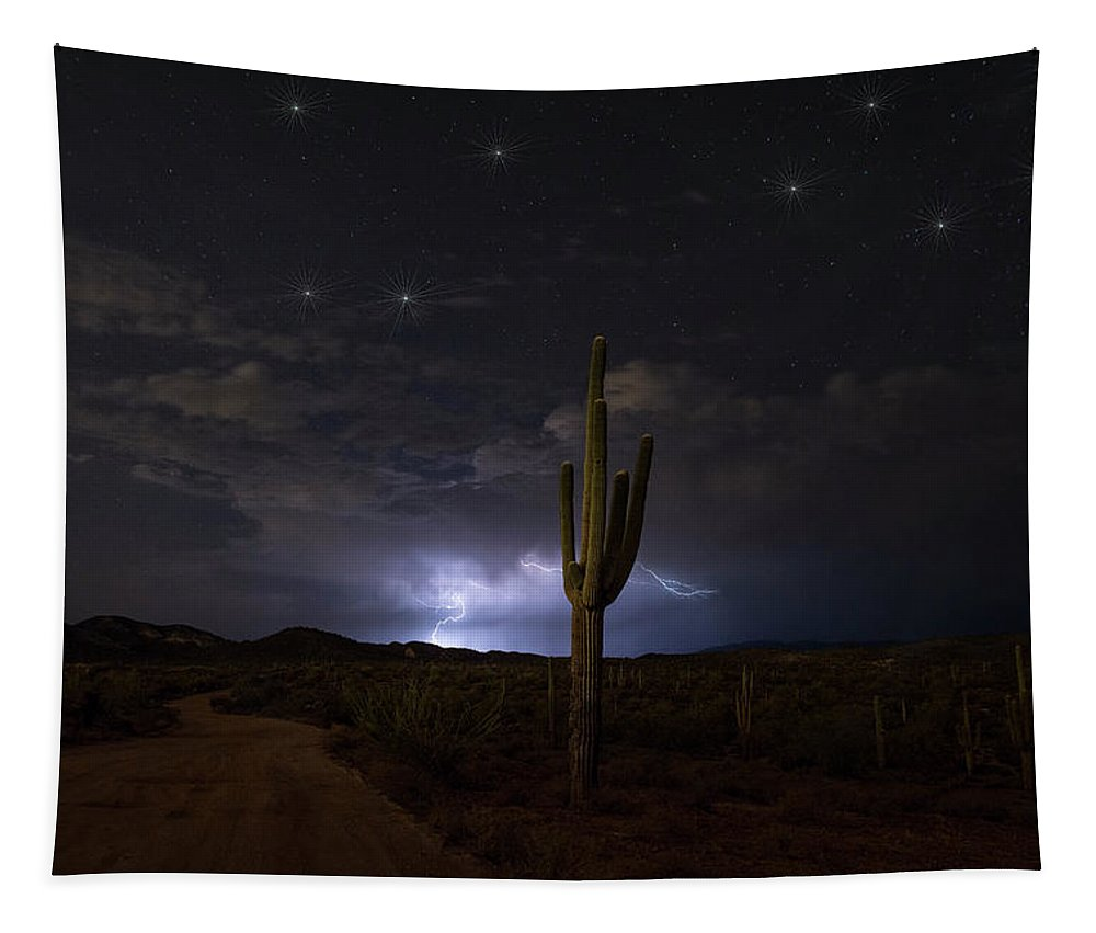 Superstitions Tapestry featuring the photograph Amazing Desert Night by Saija Lehtonen