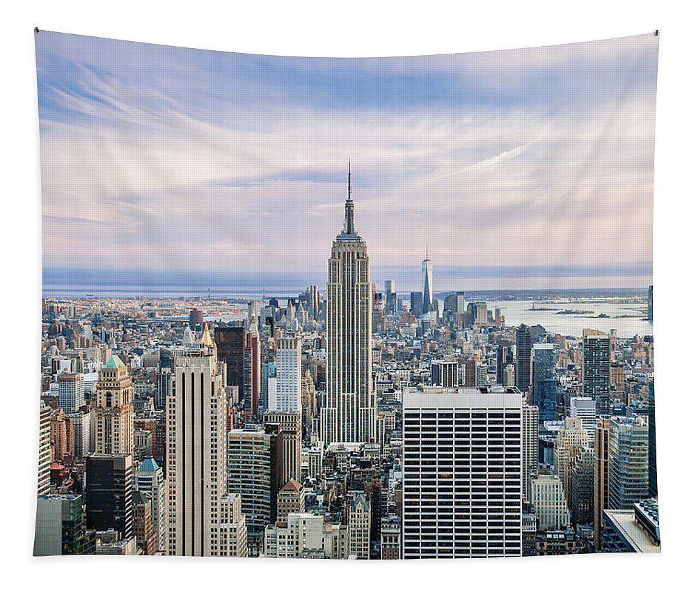 Empire State Building Tapestry featuring the photograph Amazing Manhattan by Az Jackson