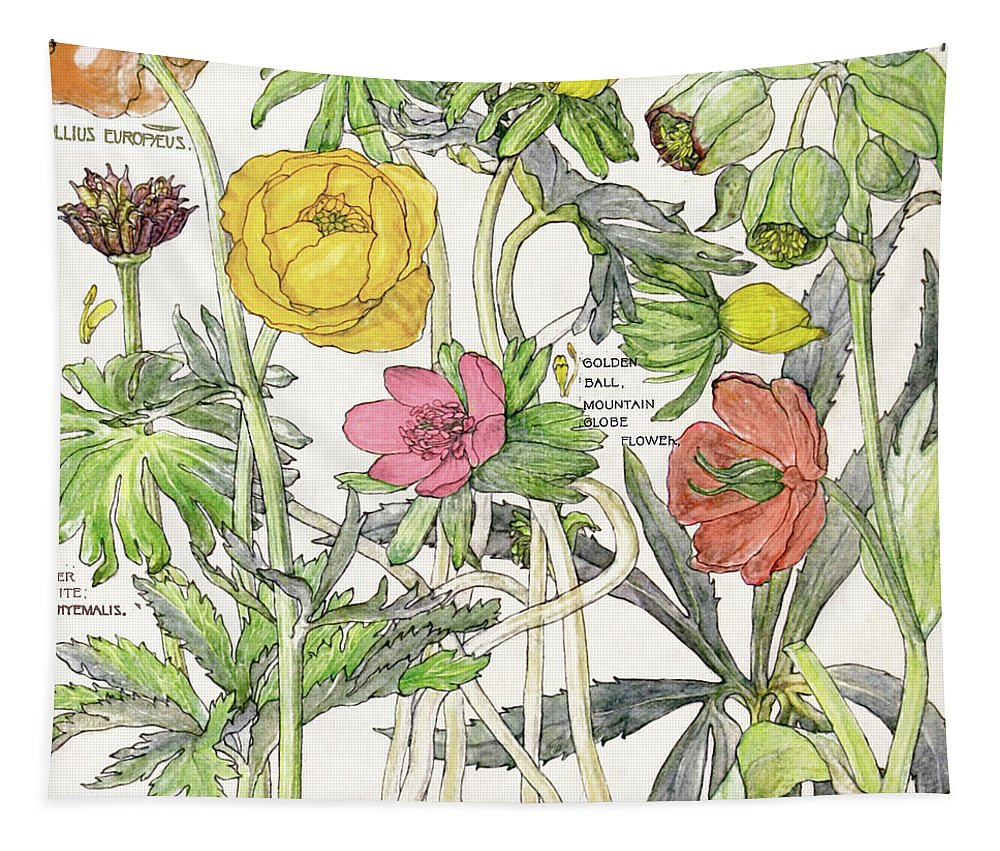 Flowers Tapestry featuring the painting Ambrosia Vi by Mindy Sommers