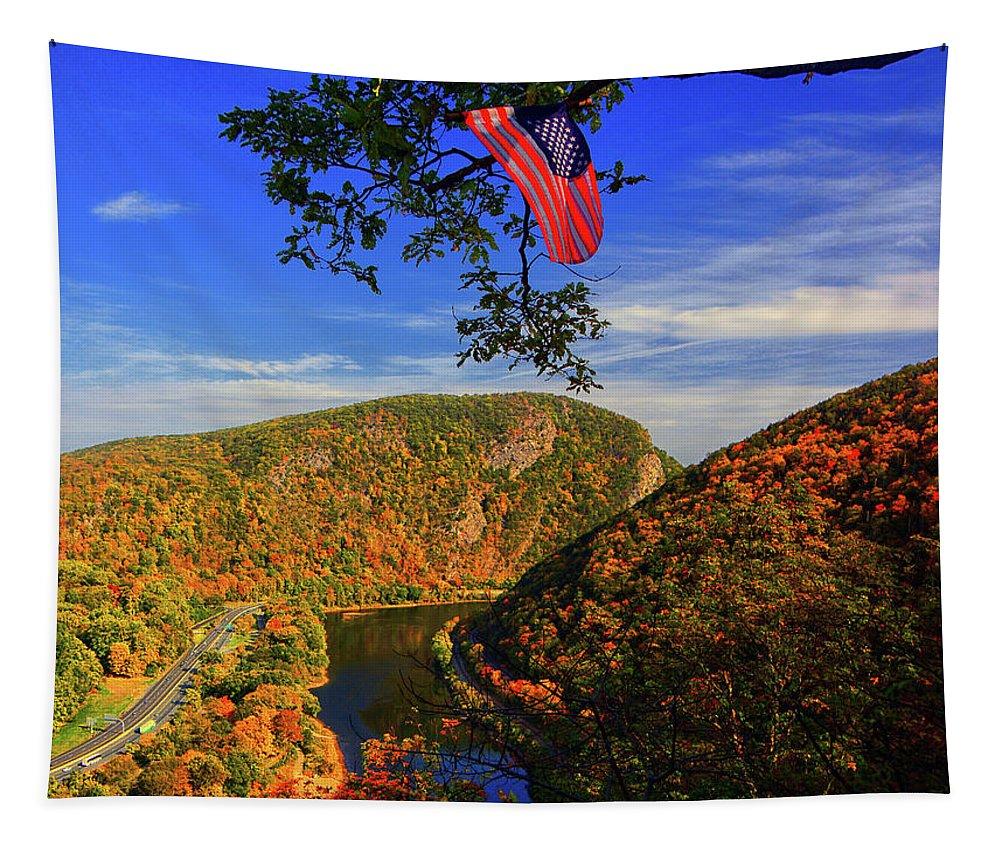 America The Beautiful Tapestry featuring the photograph America The Beautiful by Raymond Salani III