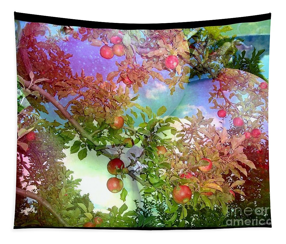Abstract Tapestry featuring the photograph American Apple Pie by Linda Galok