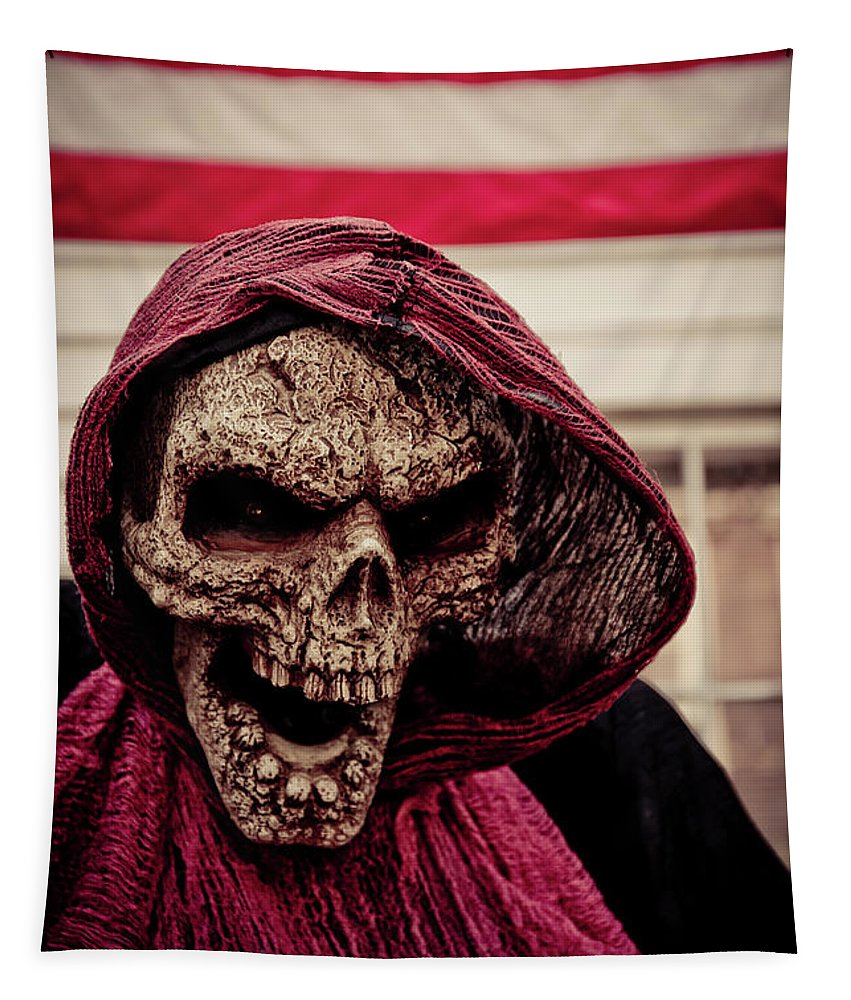 Skull Tapestry featuring the photograph American Horror Story by Edward Fielding