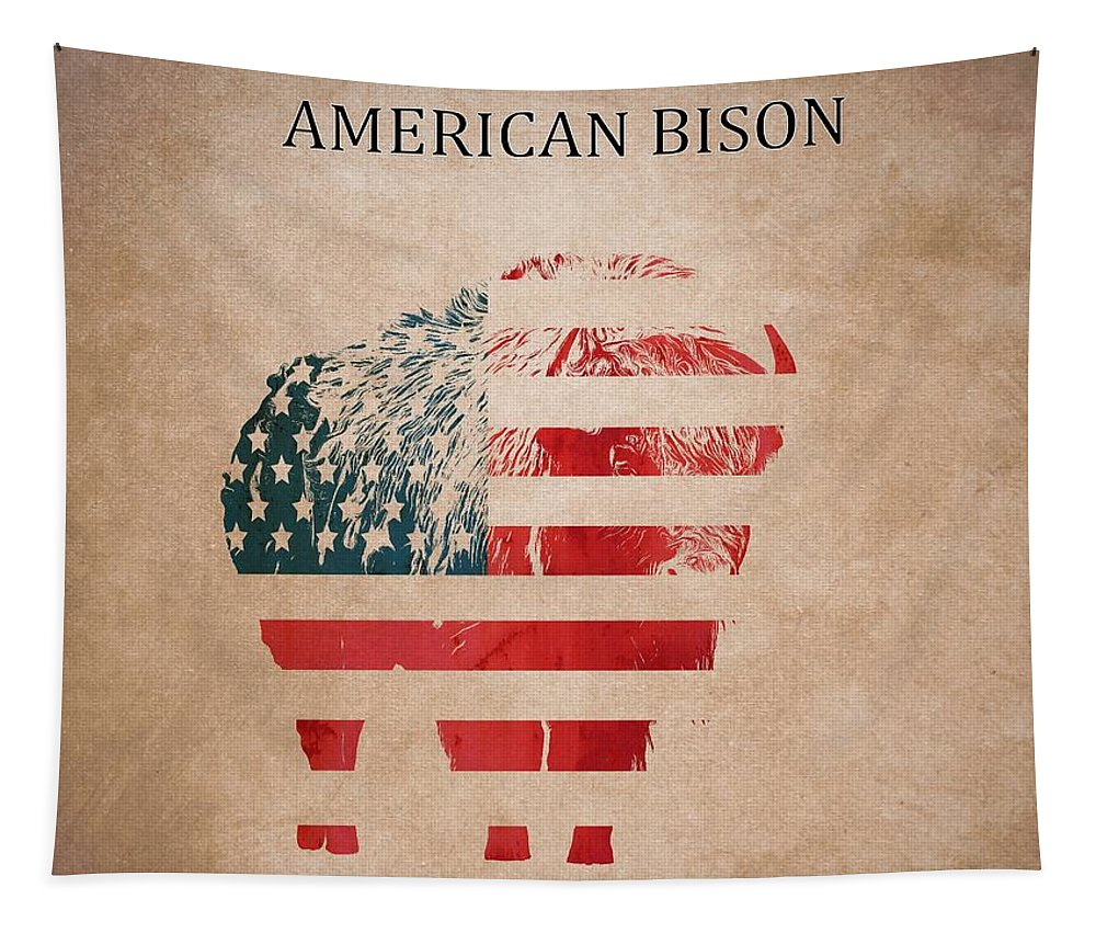 American Mammal The Bison Tapestry featuring the digital art American Mammal The Bison by Dan Sproul