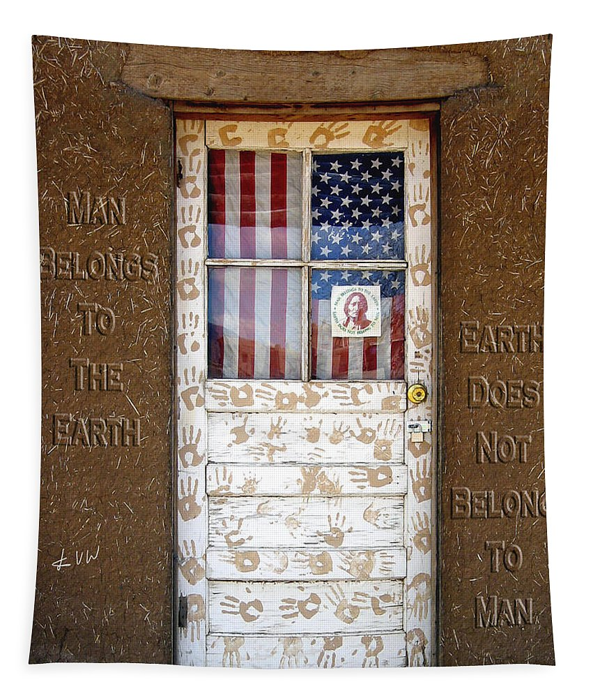 Door Tapestry featuring the photograph American Native Finger Prints by Kurt Van Wagner