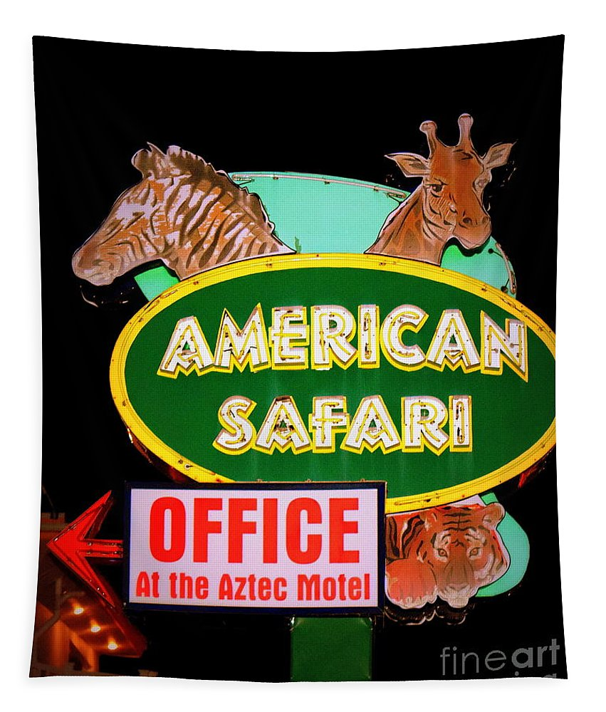 Wildwood Tapestry featuring the photograph American Safari Motel by Betsy Warner