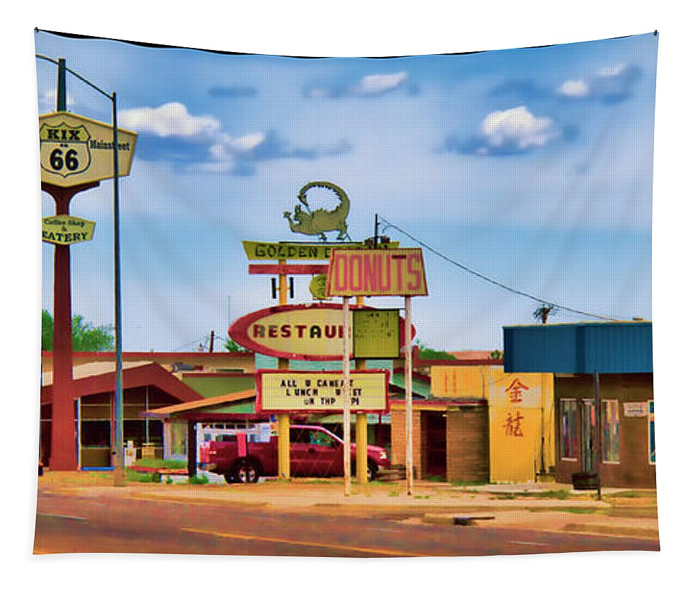 America's Mainstreet Tapestry featuring the photograph America's Mainstreet by Debby Richards