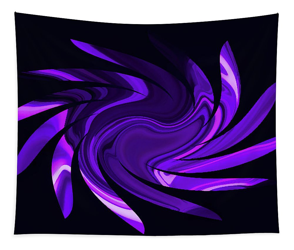 Abstract Tapestry featuring the photograph Amethyst Heart Sun by Aimee L Maher ALM GALLERY