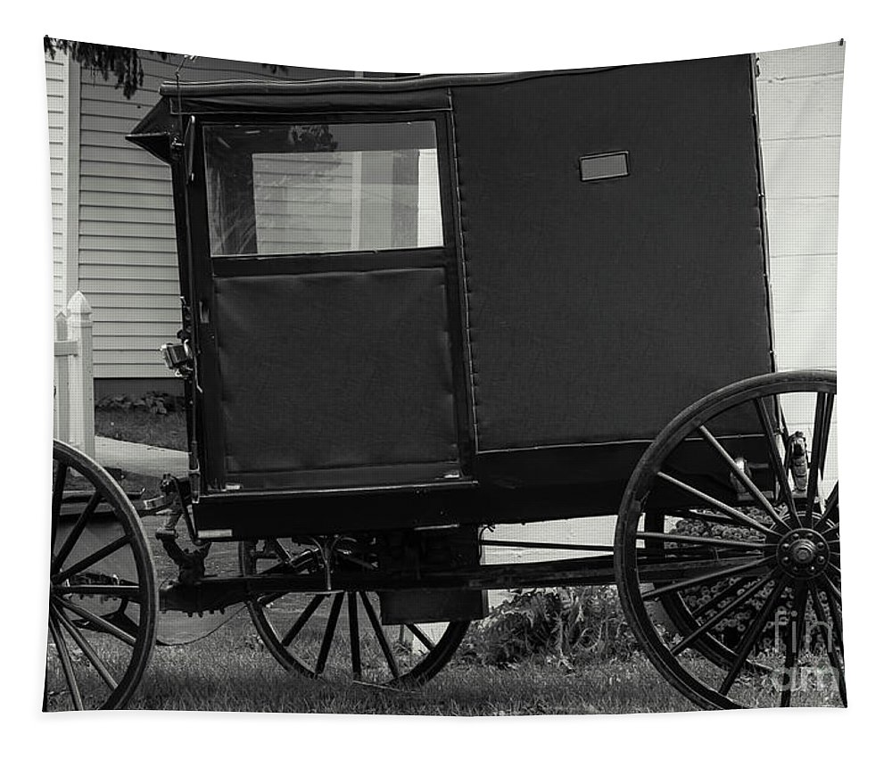 Religion Tapestry featuring the photograph Amish Wagon _pa by Kathleen K Parker