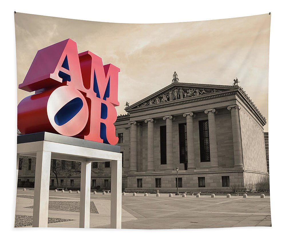 Amor Tapestry featuring the photograph Amor - Love by Bill Cannon