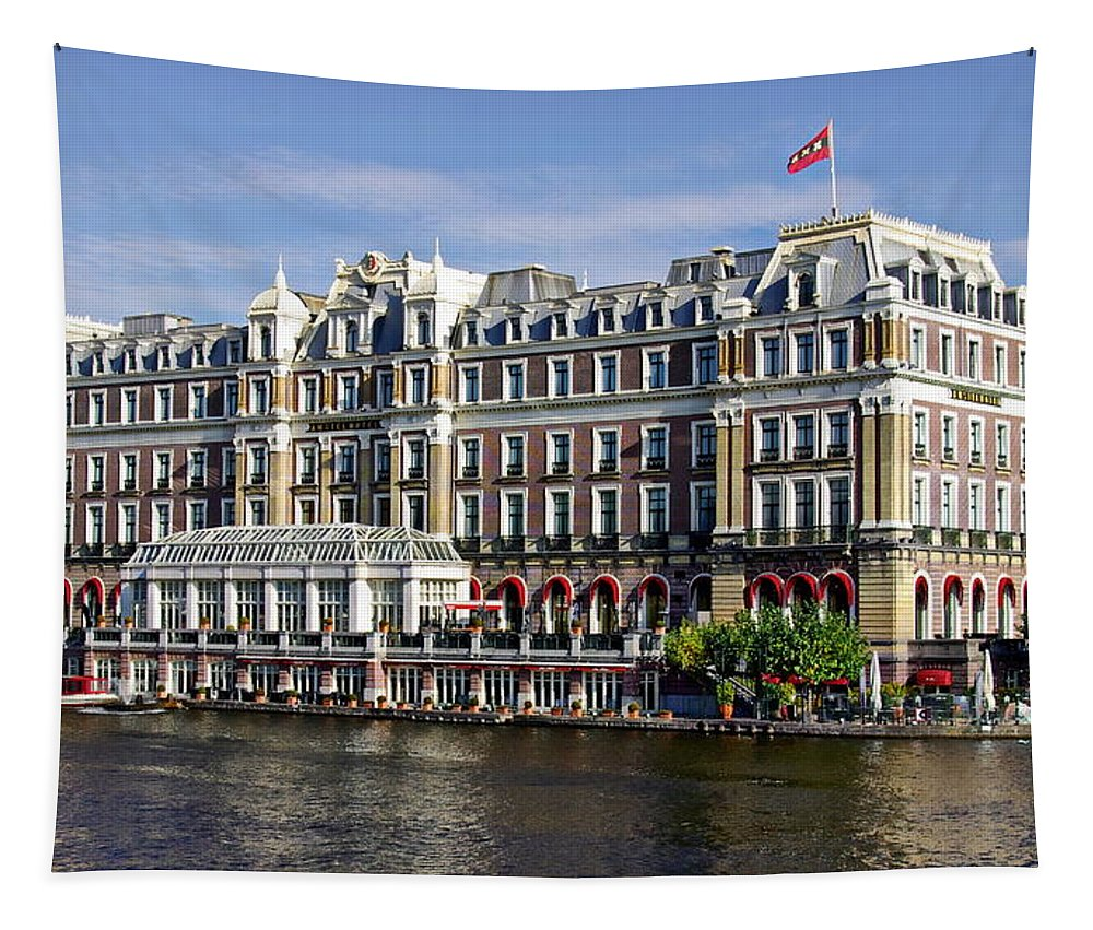 Accomodation Tapestry featuring the photograph Amstel Amsterdam Hotel by Anthony Dezenzio