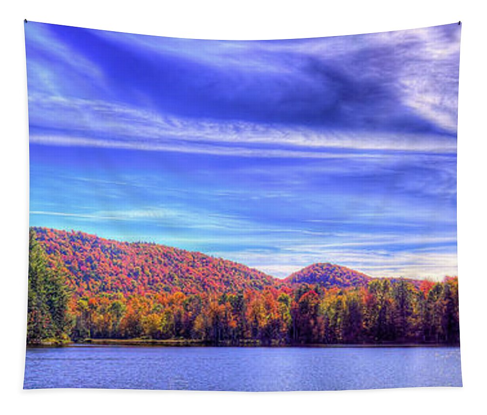An Autumn Panorama Tapestry featuring the photograph An Autumn Panorama by David Patterson