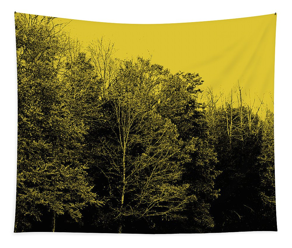 Digital Art Tapestry featuring the digital art An Autumnal Visit by Marian Bell
