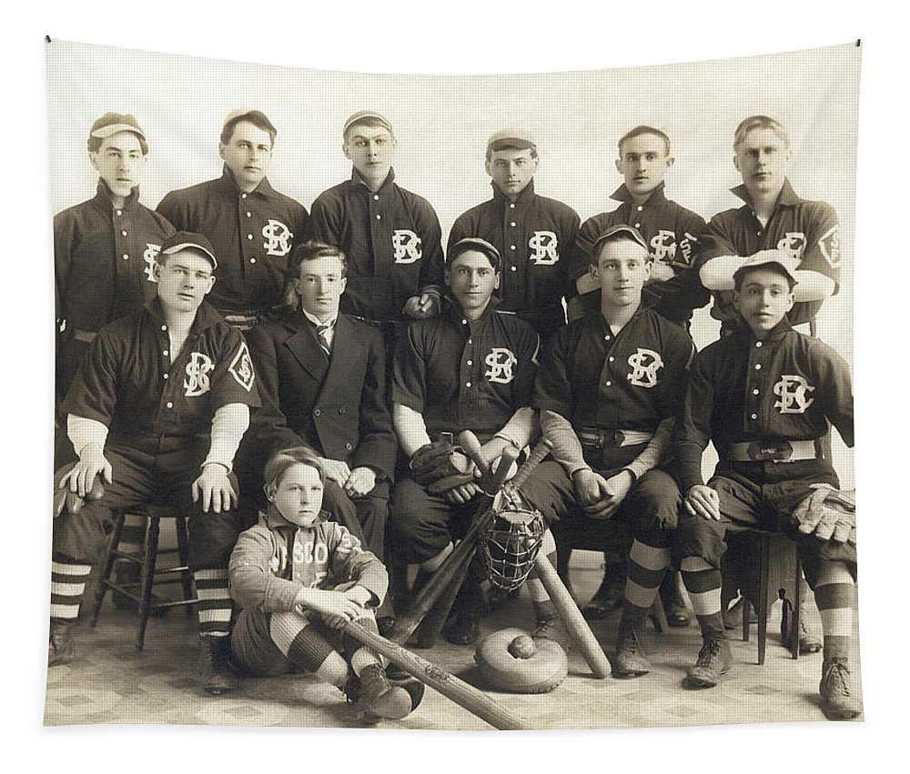 Photo Tapestry featuring the photograph An Early Sf Baseball Team by American School