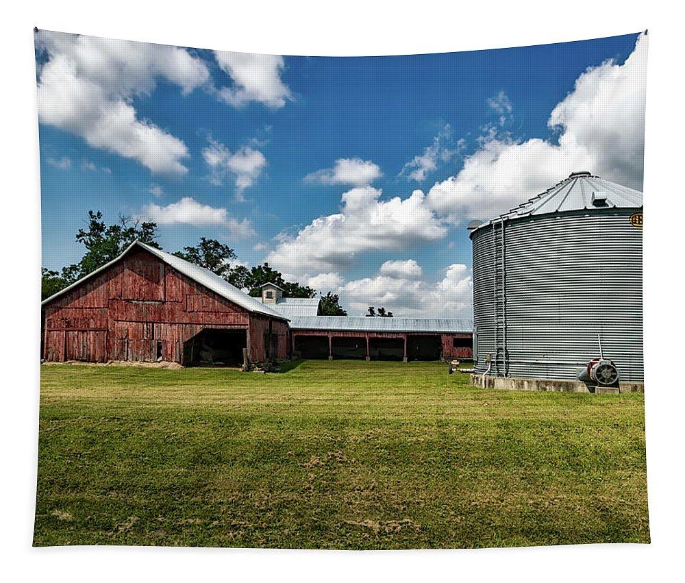 Iowa Tapestry featuring the photograph An Iowa Farm by Mountain Dreams