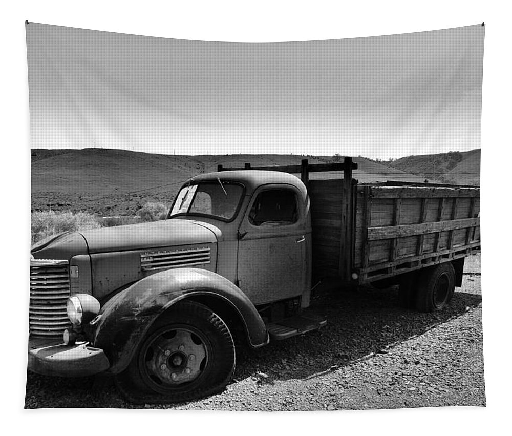 Truck Tapestry featuring the photograph An Old Clunker by Jeff Swan