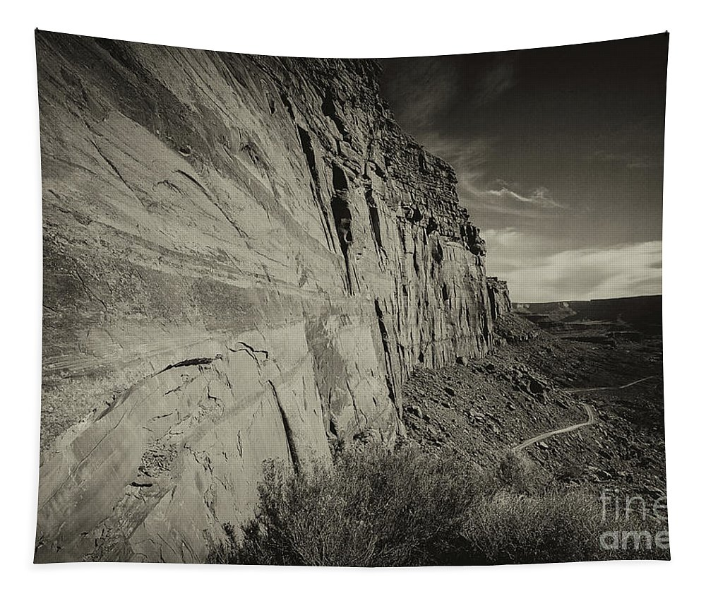 Utah Landscape Tapestry featuring the photograph Ancient Walls by Jim Garrison