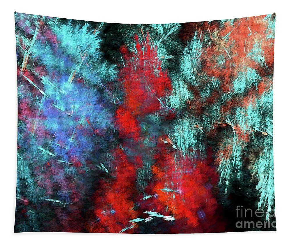 Abstract Tapestry featuring the digital art Andee Design Abstract 25 2018 by Andee Design