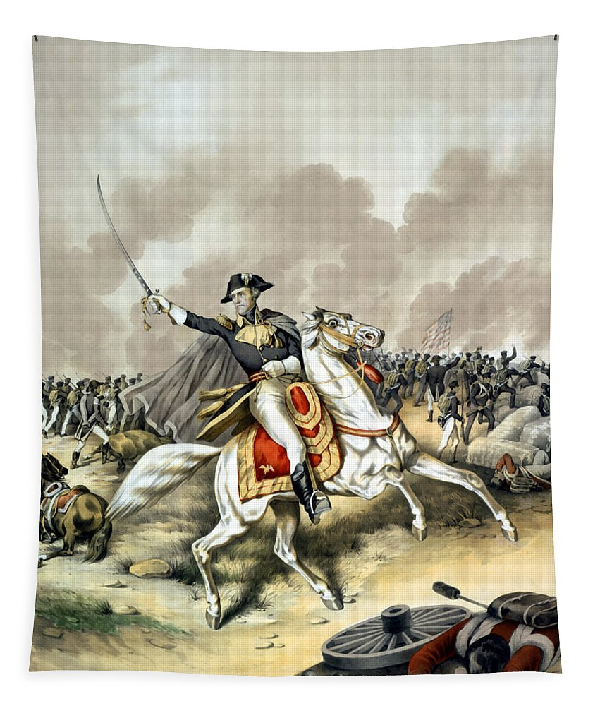 Andrew Jackson Tapestry featuring the painting Andrew Jackson At The Battle Of New Orleans by War Is Hell Store