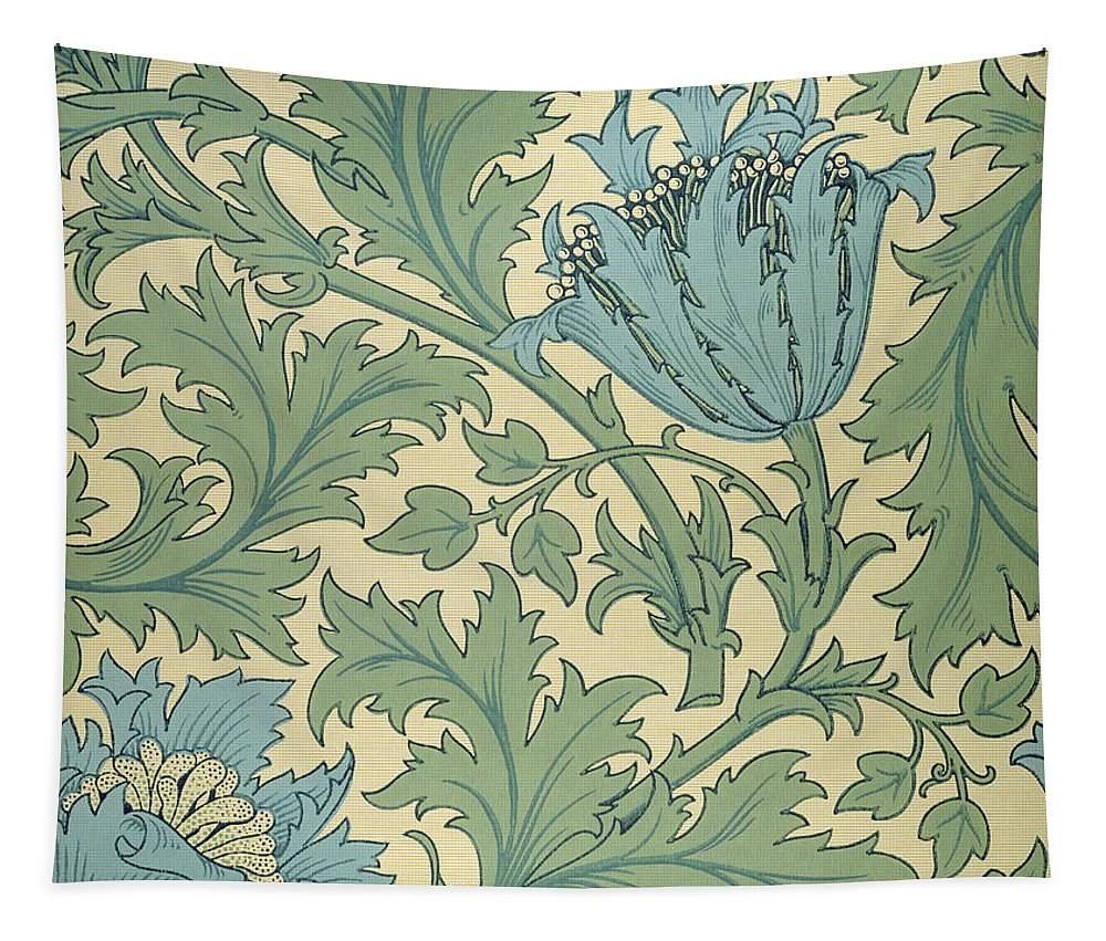 Arts And Crafts Movement; Floral; Pattern; Anemones Tapestry featuring the tapestry - textile Anemone Design by William Morris