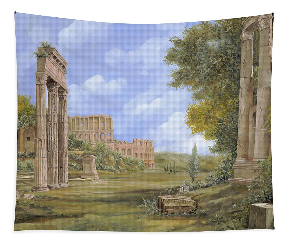 Landscapes Tapestry featuring the painting Anfiteatro Romano by Guido Borelli